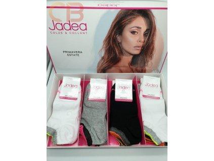 DCZ JPE21016 dámské krátké ponožky černé s lurexem Jadea