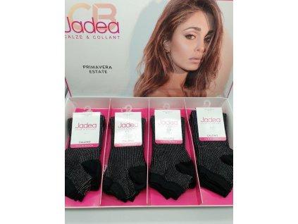 DCZ JPE21014 dámské krátké ponožky černé s lurexem Jadea