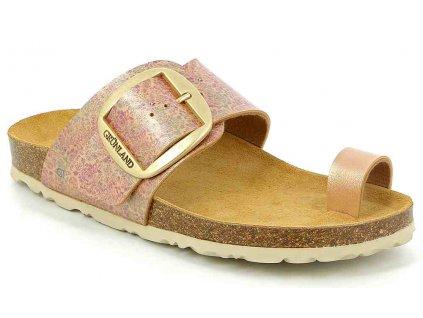 SARA CB1715 zdravotní pantofle dámská pudrová Grunland