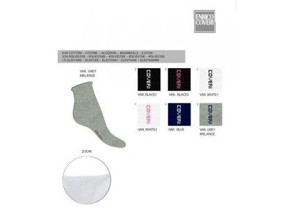 MANGO dámské ponožky krátké jednobarevné ENRICO COVERI