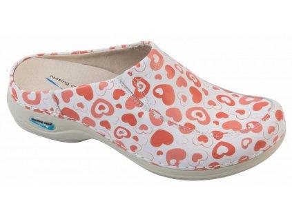 PARIS pracovní kožená pratelná obuv s certifikací srdíčka WG4F52 Nursing Care 1