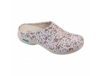 PARIS pracovní kožená pratelná obuv s certifikací pejskové WG4F53 Nursing Care 1