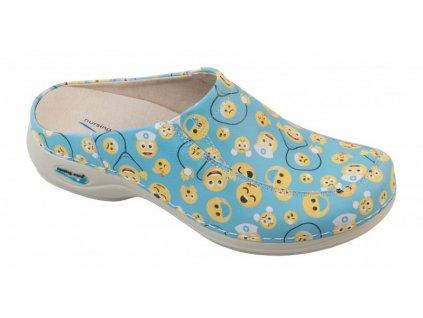 PARIS pracovní kožená pratelná obuv s certifikací bez pásku emoji WG4F54 Nursing Care 1