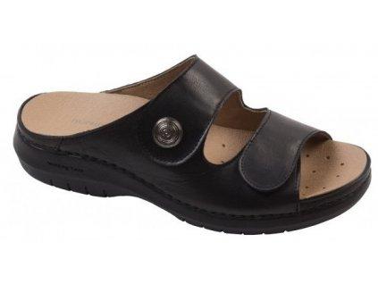 ACÁCIA dámské pantofle černé barvy C5411 Nursing Care