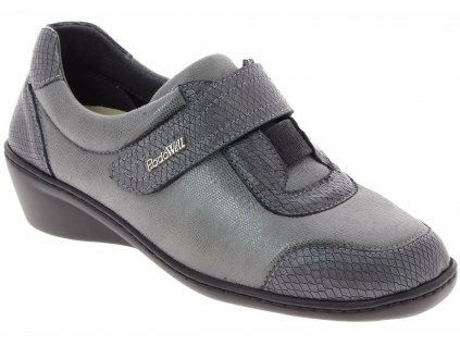 SIMONA zdravotní dámská polobotka pro širokou nohu a kladívkové prsty taupe PodoWell a