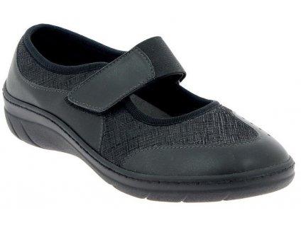 VIRTUEL obuv pro širokou nohu černá PodoWell a