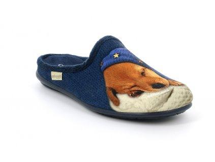 FAYE CI2407 domácí pantofle modrá koťátko Grunland 1