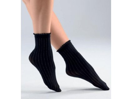 PIXEL dámské krátké ponožky černé s potiskem Bellissima(1)