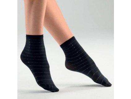 TOPIC dámské krátké ponožky černé s lurexem Bellissima