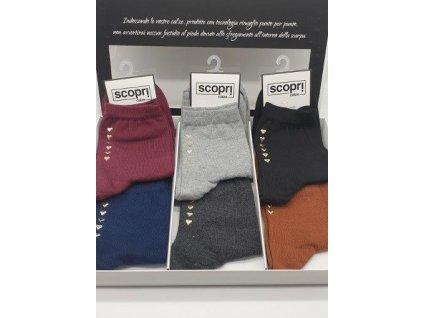 MARGOT dámské krátké ponožky vícebarevné se srdíčky Scopri