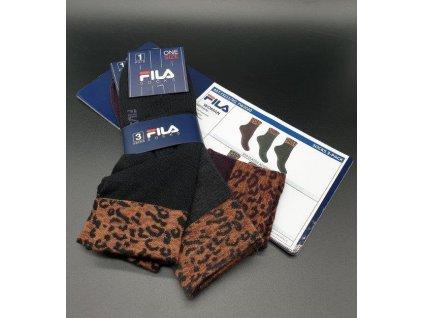 F3211 dámské krátké ponožky s barevným lemem Fila