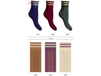 AMERICA dámské ponožky barevné Scopri