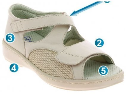 AWELL zdravotní sandál béžová PodoWell