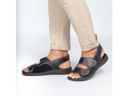 HOWARD zdravotní sandál pánský černý PodoWell