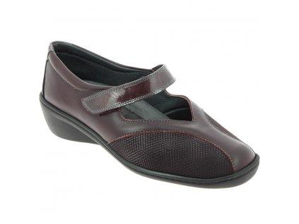 STADIA  ELEGANCE strečová dámská obuv pro halluxe a kladívkové prsty bordová PodoWell