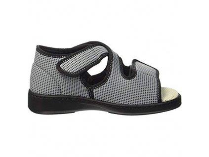 ACADEMIE zdravotní sandál pro oteklé nohy šedá PodoWell