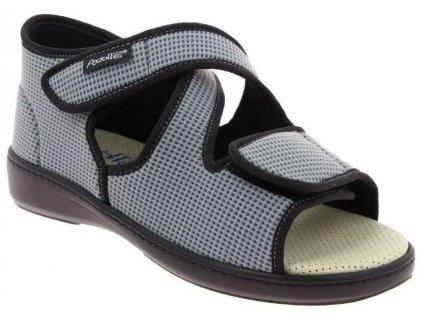 ACADEMIE zdravotní sandál pro oteklé nohy unisex šedá PodoWell