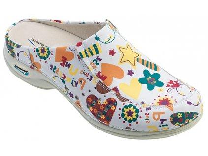 BERLIM pracovní kožená pratelná obuv s certifikací dámská bez pásku junior WG4AF2 Nursing Care zdravotní 1(1)