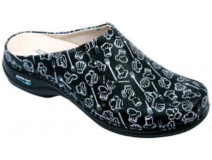 BERLIM pracovní kožená pratelná obuv s certifikací unisex bez pásku kitchen 11 WG4AF28 Nursing Care 3