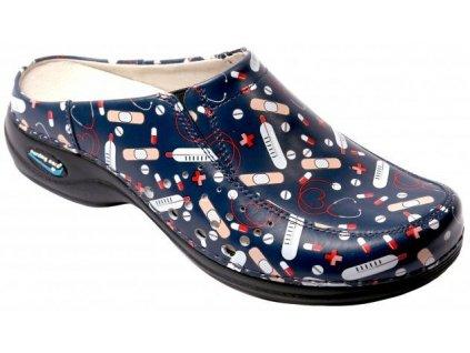 BERLIM pracovní kožená pratelná obuv s certifikací unisex bez pásku health 03 WG4AF26 Nursing Care 1