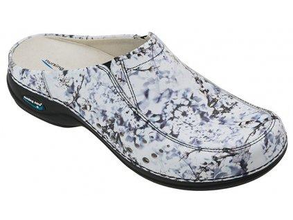 BERLIM pracovní kožená pratelná obuv s certifikací dámská bez pásku inverno WG4AF13 Nursing Care zdravotní 2