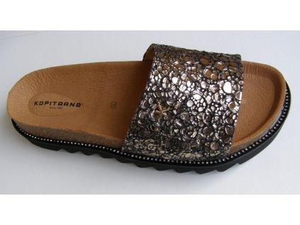 LETIZIA PURO 2732 zdravotní pantofle bronzová Kopitarna