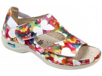 PRAGA pracovní sandálek s motýlky WG35F15 Nursing Care 3
