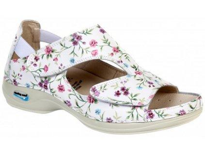 PRAGA pracovní sandálek s květy WG35F33 Nursing Care 3