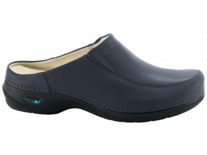 PARIS pracovní kožená pratelná obuv s certifikací unisex bez pásku tmavě modrá WG403 Nursing Care