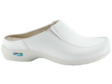PARIS pracovní kožená pratelná obuv s certifikací unisex bez pásku bílá WG410 Nursing Care