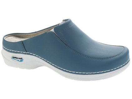 PARIS pracovní kožená pratelná obuv s certifikací unisex bez pásku modrá džínová WG404 Nursing Care