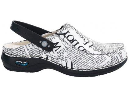 PARIS pracovní kožená pratelná obuv s certifikací unisex s páskem noviny WG4PF9 Nursing Care