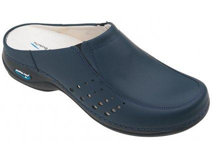 BERLIM pracovní kožená pratelná obuv s certifikací unisex bez pásku tmavě modrá WG4A03 Nursing Care 1