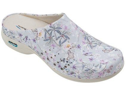 BERLIM pracovní kožená pratelná obuv s certifikací dámská bez pásku primavera
