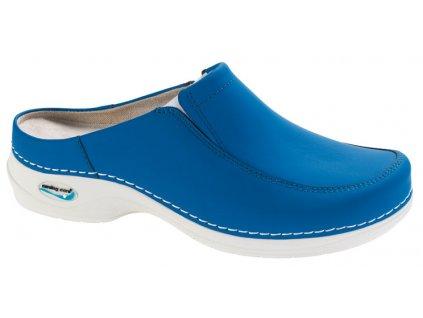 PARIS pracovní kožená pratelná obuv s certifikací unisex bez pásku elektrická modrá WG407 Nursing Care(1)