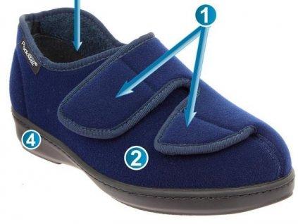 ATHOS zdravotní obuv unisex modrá PodoWell