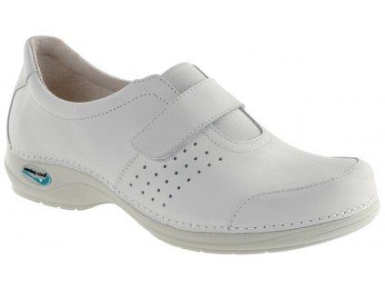 MILAO pracovní kožená pratelná obuv unisex bílá WG110 Nursing Care