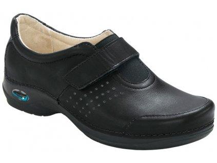 MILAO pracovní kožená pratelná obuv unisex černá WG111 Nursing Care
