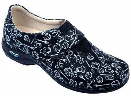 MILAO pracovní kožená pratelná obuv unisex kuchyň WG1F28 Nursing Care 2
