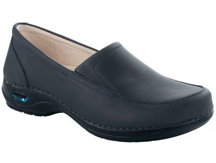 ROMA pracovní kožená pratelná dámská obuv tmavě modrá WG1003 Nursing Care