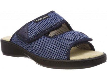 ADDAX zdravotní pantofle pro oteklé nohy modrá PodoWell
