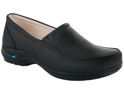 ROMA pracovní kožená pratelná dámská obuv černá WG1011 Nursing Care