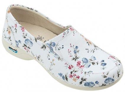 ROMA pracovní kožená pratelná dámská obuv květy WG10F1 Nursing Care 3