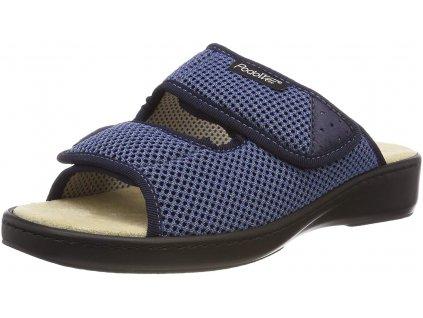 ADDAX zdravotní pantofle pro oteklé nohy modrá PodoWell 1