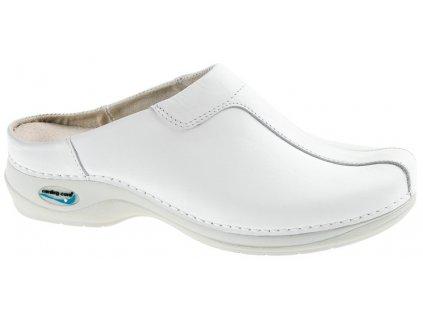 MADRID pracovní kožená pratelná obuv s certifikací unisex bez pásku bílá WG210 Nursing Care