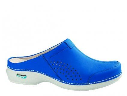 VENEZA pracovní kožená pratelná obuv bez pásku unisex modrá WG3A07 Nursing Care
