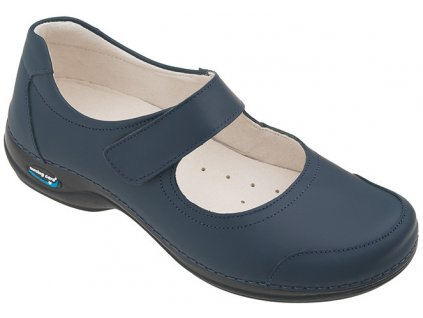 EVORA pracovní kožená pratelná obuv s certifikací dámská tmavě modrá WG503 Nursing Care 3