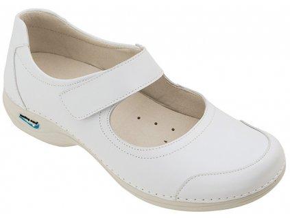 EVORA pracovní kožená pratelná obuv s certifikací dámská bílá WG510 Nursing Care 3