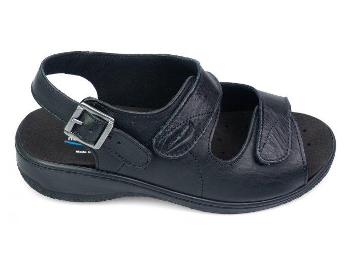 MOLEDO sandálek pro širokou nohu dámské černé Nursing Care