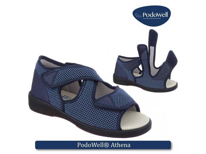 ATHENA zdravotní sandálek unisex modrá PodoWell